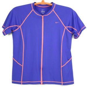 Nike Shirt Biking Bicycle Cycling XL Purple Zip